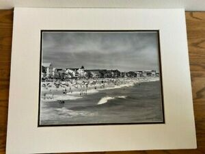 A. AUBREY BODINE SIGNED OCEAN CITY (1950) PHOTO IMAGE ID #17-096 DOUBLE-MATTED