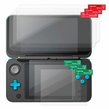For New Nintendo 2DS XL Fully Covered 3-Pack Clear Screen Protector LCD Shield