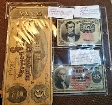 Confederate Notes Fractional Postage Exceptional Quality 10 25 Cents $5 Dollar