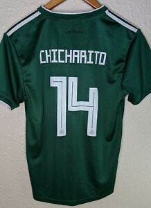ADIDAS Mexico National Soccer Team Chicharito Home Jersey Youth Size 28 Green