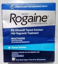 Rogaine 3×60ml Minoxidi Topical Solution Men's Hair Regrowth Treatment