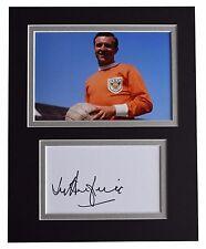 Jimmy Armfield Signed Autograph 10x8 photo display Blackpool Football AFTAL COA