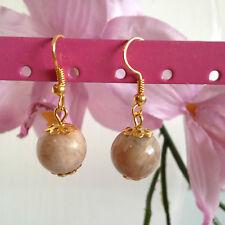 Handmade genuine gemstone jewellery. Sunstone earrings
