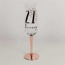 Hotchpotch Luxury Champagne Prosecco Flute Glass Rose Gold Stem 21st Birthday