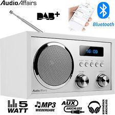 AudioAffairs DAB+ Digital Radio Bluetooth Lautsprecher Küchen Radio Wecker Tisch