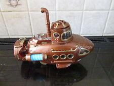 STEAMPUNK model sub submarine nautilus lights octopus MAD SCIENTIST LABORATORY