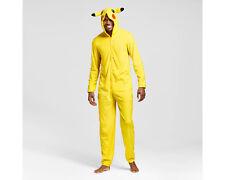 Pikachu Mens Extra Large XL Union Suit Hoodie Pajamas One Piece Pokemon Jumpsuit