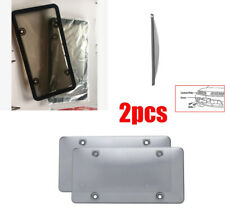 License Plate Cover Shield Car Clear Tinted Shield Black Tag Frame Vehicle Auto