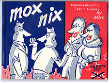 MOX NIX 1952 2nd Print AMAZING CARTOONS Army Air Corp Germany PROSTITUTES Drunks