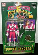 '94 Mighty Morphin PINK POWER RANGERS ACTION FIGURE Kimberly Bandai Sealed #2310