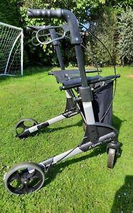 TOPRO TROJA black ROLLATOR Walking Frame With Seat shopping basket FREE UK POST