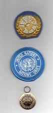 UNITED NATIONS FULL-SIZE  MEDAL FOR UNTEA -OFFICERS BERET BADGE & SLEEVE BADGE