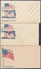 "#F-R-390 // 462 (6) DIFFERENT ""FLAGS"" UNION CIVIL WAR PATRIOTIC COVERS BS3788"