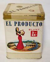 Vintage El Producto Cigar Tin Blunt 2 for 25 cents