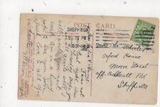 Miss L Wheeler Oxford House Moore Street Ecclesall Road Sheffield 1911 694a