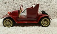 Antique 1940's Japan Metal Tin Litho Friction Toy Car AX-123 Convertible Red