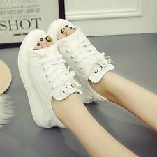 Womens Girls Open Toe Canvas Summer Platform Sandals Roma Boots Sneaker