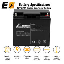ExpertBattery - 12V 20AH UPS Battery Replaces 20Ah BB Battery HR22-12, HR22