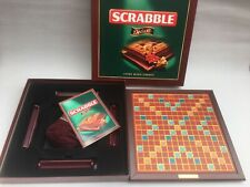 Vintage 2000 SCRABBLE DELUXE Edition Wooden Tiles Turntable 100% COMPLETE VGC