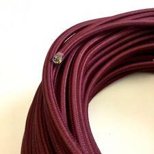 Textilkabel, Stoffkabel, Textilleitung,rund,bordeaux 3x0,75mm² H03VV-F