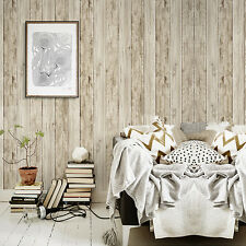 "Wood Panel Peel Stick Wallpaper 23.6"" x 19.7ft Sand Multi Self Adhesive Contact"