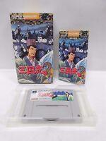 YOKOYAMA MITSUTERU SANGOKUSHI 2 -- Can save Boxed Super famicom SNES Japan 13801