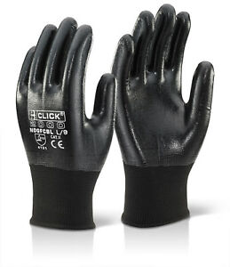 Click Nitrile Fully Coated Polyester Work Glove  (Pack Of 10) - Ndgfc