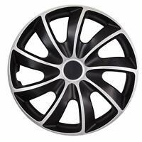 4 x Radkappen 16 Zoll schwarz chrom Radblende für Stahlfelgen für Fiat 84DP