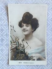 Beautiful French Lady Glamour Fashion Original Vintage Postcard