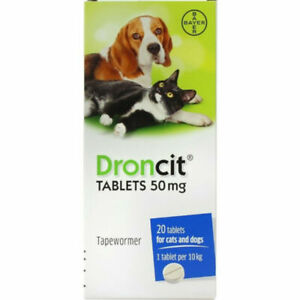 Droncit Tapeworm De-wormer for Cats and Dogs. 1 Tablet per 10KG.