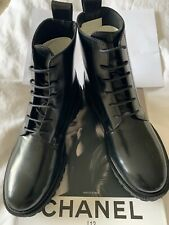 & Other Stories Black Leather Flat Lace Up Boots  - Brand New - UK 3