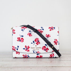 NWT Kate Spade Carson Tea Garden Toss Convertible Crossbody in White Multi