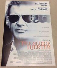 """Random Hearts"" Harrison Ford Kristin Scott Thomas 1999 Danish Press Release Kit"