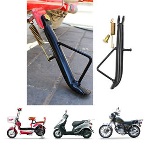 Universal Motorcycle Kick Stand Electric Scooter Side Leg Prop Stable Black Iron