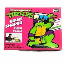 Teenage Mutant Ninja Turtles Donatello Giant Shaped Floor Puzzle Vintage 1990