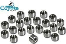 """100 Pack Lot 1/4"""" NPT 316 Stainless Pipe Thread Weld Bungs Coyote Gear SS Bung"""