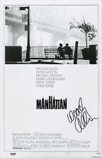 WOODY ALLEN SIGNED MANHATTAN 11X17 MOVIE POSTER PSA COA AD48148