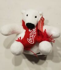 Coca Cola Polar Bear / Coca Cola Coke Logo Red Scarf Collectible Mini Plush