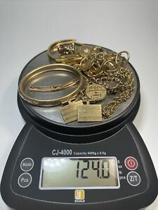 124 Grams Of Gold Filled Scrap Jewelry
