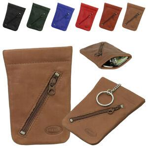 Branco Leder Schlüsselglocke Schlüsseltasche Schlüsseletui Auto Etui Tasche 011