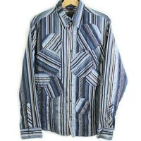 Vintage Kenzo Homme Button Down Patchwork Embroidered Shirt Men's Size Large