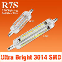 SMD3014 spotlight R7S LED Lamp Cool/Warm Halogen 104 228 leds  10W 15W Lights