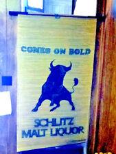 Schlitz beer sign bar signs 1 wicker window shade or door cover wall display Uw9