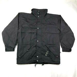 NWT Kobe Sportswear Mens S Blank Black Windbreaker Nylon Profile For Embroidery