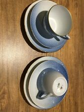 Pair Of Vintage Bing & Grondahl SEAGULL Trio Set Cup Saucer Bread & Butter Plate