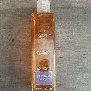Aromatherapy Associates De-Stress Shower Oil to Milk Body 8.45oz **READ**
