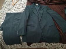 Vintage Farah Men's 2 piece BLUE Suit Coat Jacket Blazer 40 L 32W 30L Pants USA