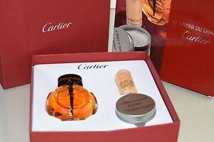 NEW CARTIER Boxed 3 Pc SET Le Baiser DU Dragon Prestige Body Oil Bath Pellets
