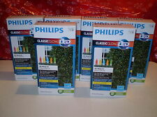 NIB! 6 Box Phillips Multi LED Mini Classic Glow Christmas Lights! 300 Lights!
