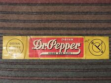 "Vintage Vintage 1940's Dr Pepper Soda Pop Gas Station 23"" Metal Sign~Nice"